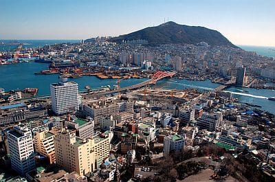 Busan from above