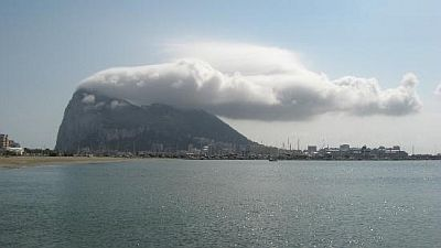 Cloud over the Rock of Gibraltar
