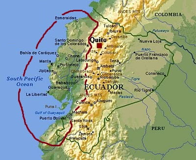 Ecuador, climate of the west