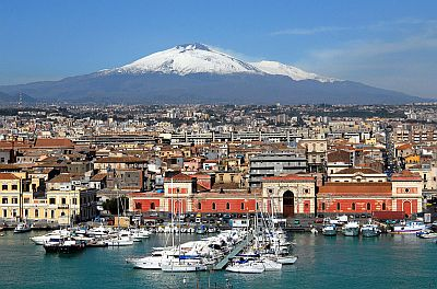 Mount Etna as seen from Catania
