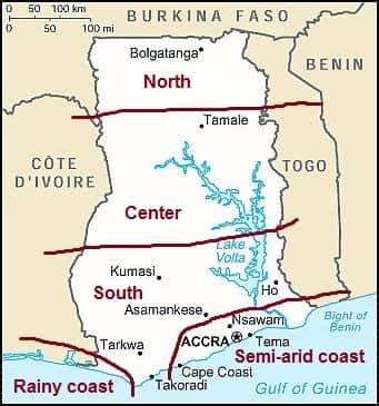 Climates in Ghana