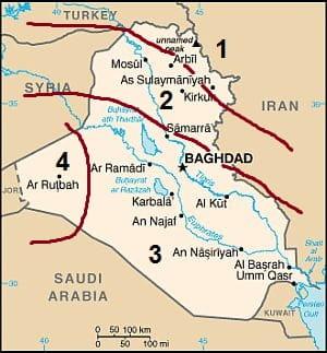 Climates in Irak