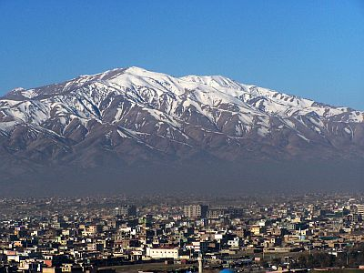 Kabul, mountains in the background