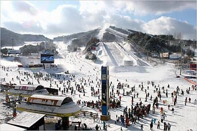 Konjiam, ski lift near Seoul