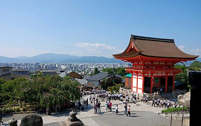 Kiyomizu-dera Temple and panorama