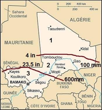 Precipitation in Mali
