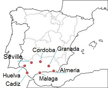 Andalusia, main cities