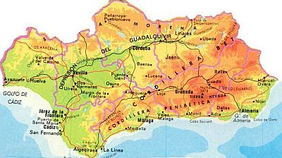 Andalusia, map