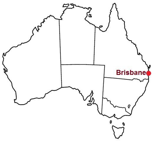 Brisbane, where it lies