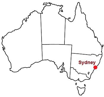 Sydney, where it's located