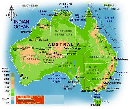Map 9f Australia.Australia Climate Average Weather Temperature Precipitation Best