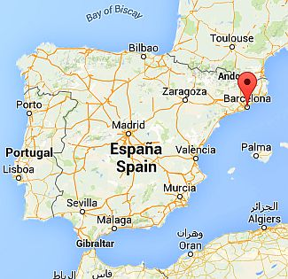 Barcelona, where it lies