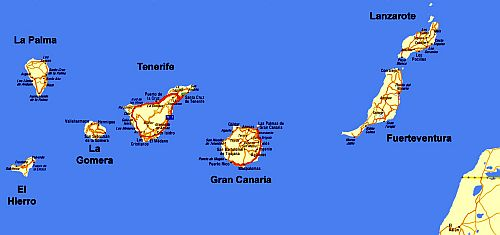 Map - Canary Islands