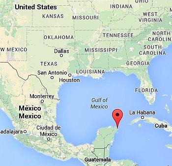 Cancun, where it lies