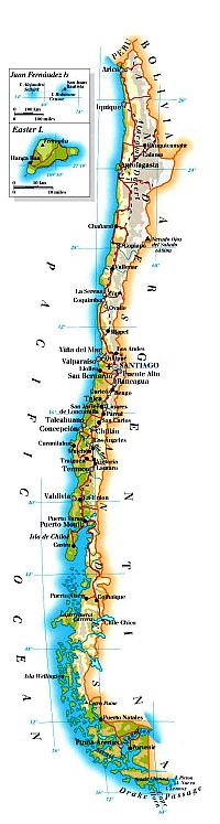 Map - Chile