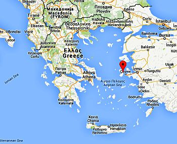 Position of Chios