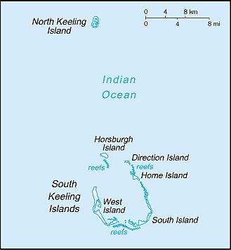 Map - Cocos Islands
