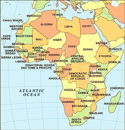 Climate - Africa - list of the countries