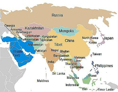 Climate asia list of the countries map asia countries gumiabroncs Image collections