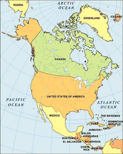 Map - North-America
