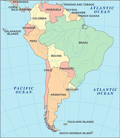 Map - South-America