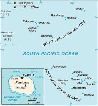 Map - Cook Islands