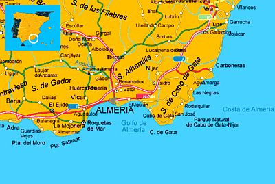 Costa Almeria Map Costa Almeria climate: average weather, temperature, precipitation