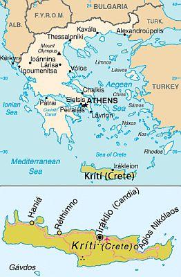 Position of Crete