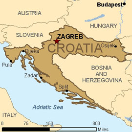 Map - Croatia