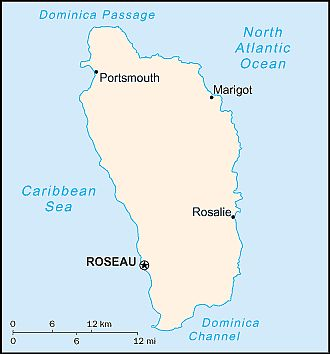 Map - Dominica