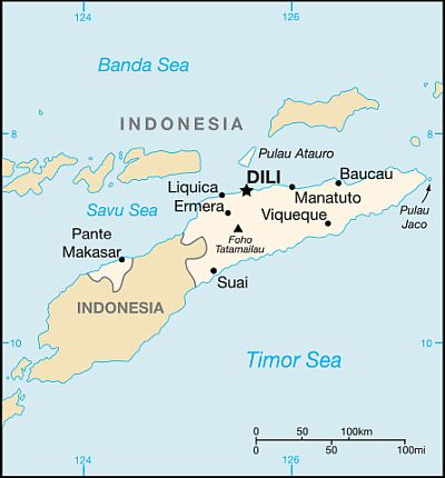 Map - East Timor