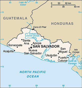 Map - El Salvador