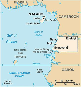 Map - Equatorial Guinea