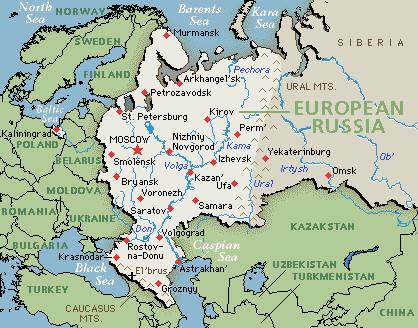 European Russia climate: average weather, temperature, precipitation ...