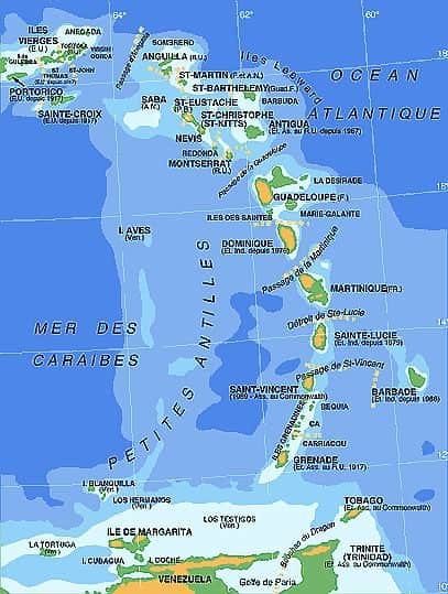 Map - French Antilles