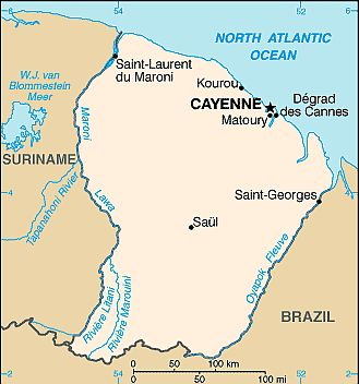French Guiana climate: average weather, temperature ...