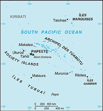 Map - French Polynesia