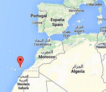 Fuerteventura, where it is