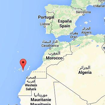Gran Canaria, where it is