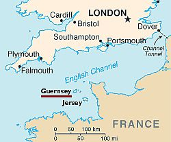 Guernsey, where it is located