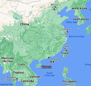 Hainan, where it's located
