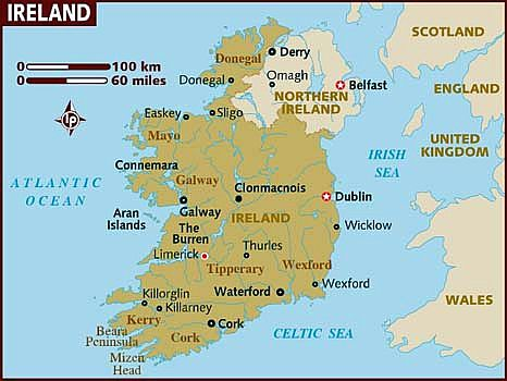 Map Of Ireland 500 Ad.Ireland Climate Average Weather Temperature Precipitation Best Time