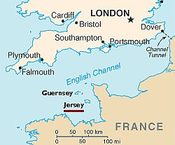Jersey, where it is located