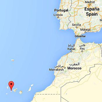 La Gomera, where it's located