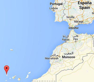 La Palma, where it's located