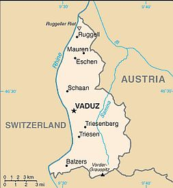 Map - Liechtenstein