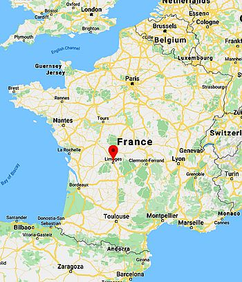 Limoges, where it's located