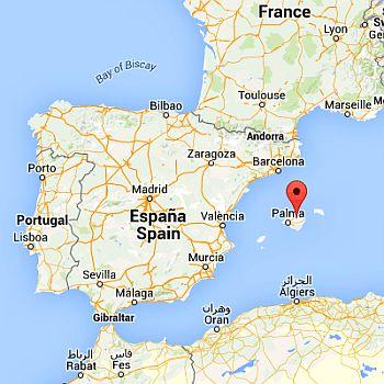 Majorca, where it is