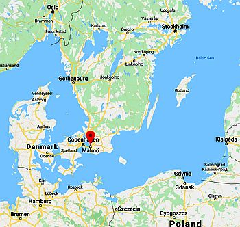 Malmo, where it's located