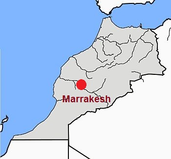 Marrakesh, where it is